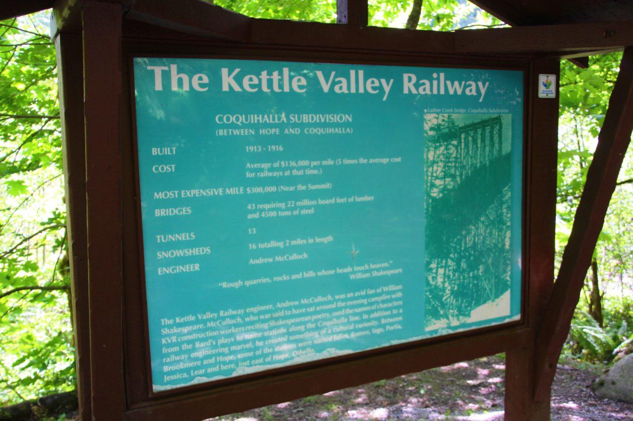 Othello Tunnels Info bord